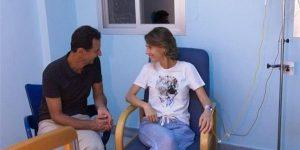 إصابة أسماء الأسد بالسرطان